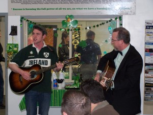 Mr. Greg Knox and his son Connor playing some tradition Irish tunes